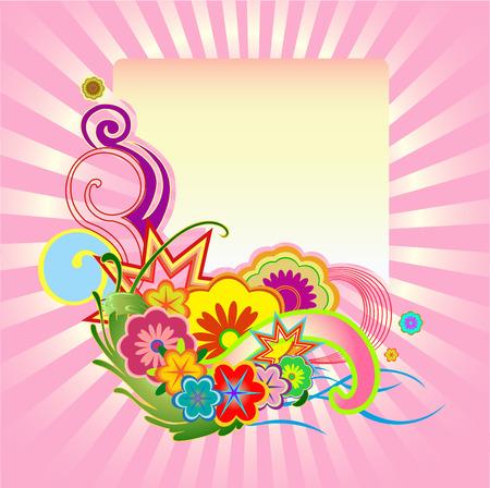 Vector illustraition of elegant floral frame Stock Vector - 5565956
