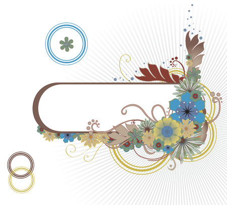 illustraition: Vector illustraition of funky Abstract floral frame