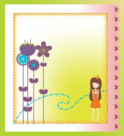 Vector Illustration of retro design greeting card Stock Vector - 5838443