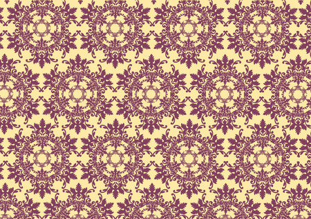 Vector illustraition of   retro abstract floral Pattern background Stock Vector - 5884191