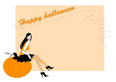 Vector Illustration of  funky invitation to halloween party Vector