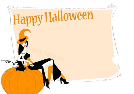 Vector Illustration of funky invitation to halloween party Vectores