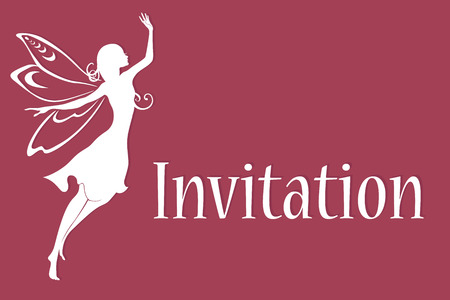 Vector illustration of funky invitation with cool fairy Vector