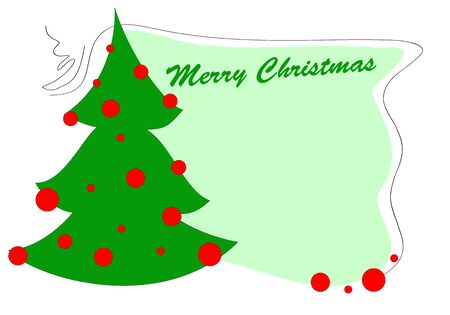 Illustration of funky colorful christmas greeting card illustration