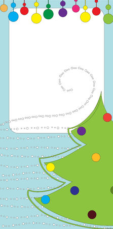 Illustration of retro design Christmas greeting card with copy space for your text Stock Vector - 6112552