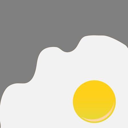 illustration of funky style background with cool Fried Egg Stock Illustration - 6134795