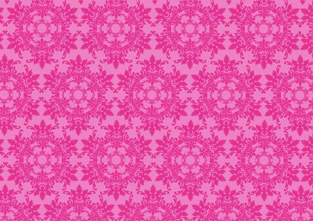 illustraition: illustraition of pink  retro abstract floral Pattern background