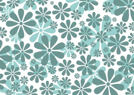 illustraition of grey  Retro Daisy Pattern  background Stock Photo - 6134834