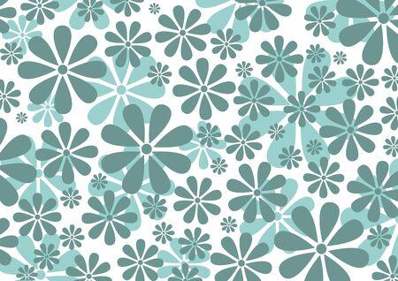 illustraition of grey  Retro Daisy Pattern  background Stock Photo - 6134834