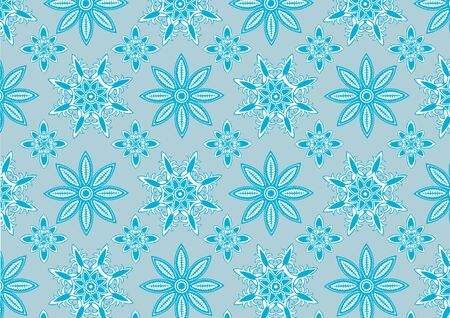 illustration of  Blue snowflake pattern . Winter season  design element that can be used as background  Stock Illustration - 6134844