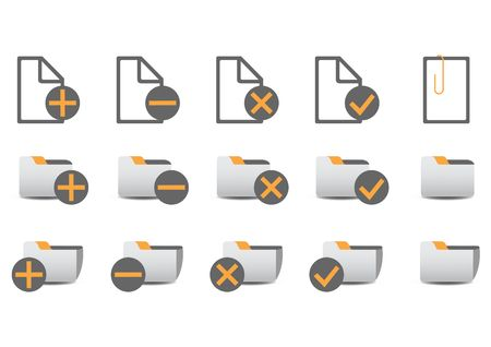 illustration of different database managment icons. You can use it for your website, application, or presentation Stock Illustration - 6283771