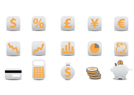 illustration of financial icons. You can use it for your website, application, or presentation Stock Illustration - 6283767