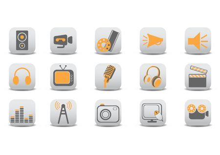 illustration of video and audio icons.You can use it for your website, application or presentation. illustration