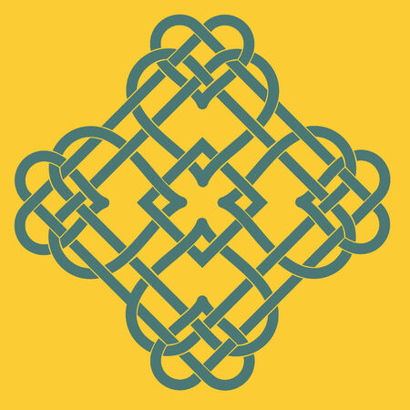 Illustration of Celtic Knot Motif Vector