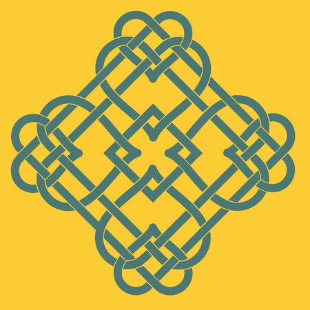 Illustration of Celtic Knot Motif Vectores