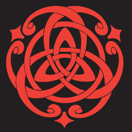 Illustration of Celtic Knot Motif Vector
