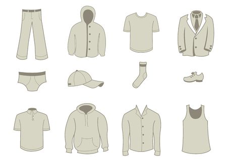 illustration set of fashion  Clothing and Accessories Icons illustration