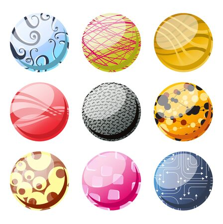 illustration of the beautifull decoration balls set. illustration