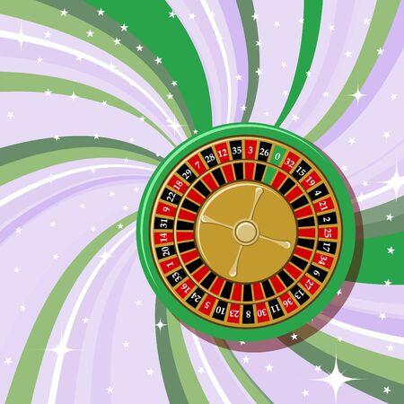illustration of casino roulette on the beautifull shiny background. illustration