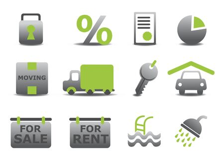 illustration of real estate and moving icons set.You can use it for your website, application or presentation illustration