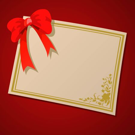 illustration of beautifull frame decorated with bow and floral elements. illustration