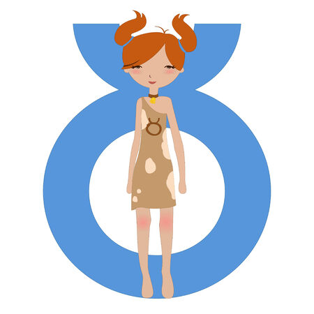 Illustration of astrological sign used in Western astrology to Taurus zodiac symbol Stock Vector - 6785086