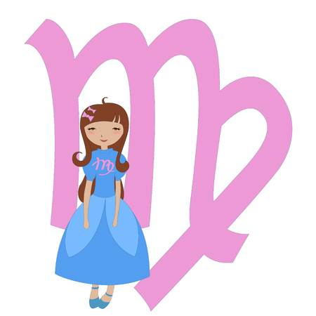 Illustration of astrological sign used in Western astrology to Virgo zodiac symbol Vector