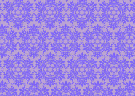 illustration of violet   retro abstract floral Pattern background Stock Vector - 6939771