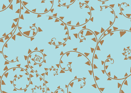 brown background: illustration of swirl background in the blue colours