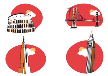 city of westminster: illustration of All Over the World Travel. Illustration