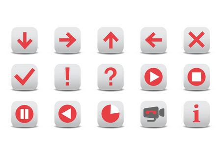 illustration of different web icons Stock Vector - 6939894