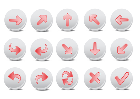 application recycle: illustration of different arrow buttons. You can use it for your website, application, or presentation Illustration