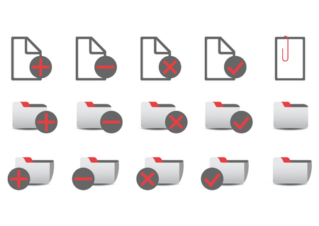 illustration of different database management icons. Stock Vector - 6939893