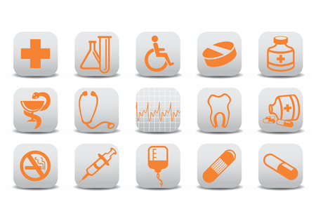 Vector illustration of medecine icons .You can use it for your website, application or presentation Stock Vector - 7068268