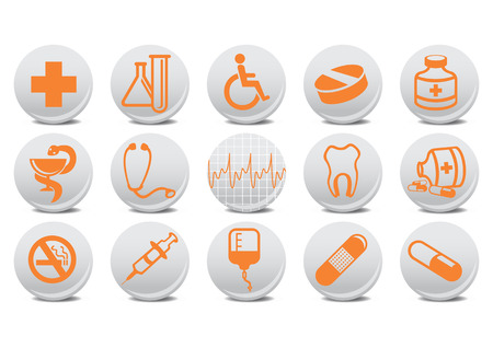 illustration of medicine buttons .You can use it for your website, application or presentation Stock Vector - 7068288
