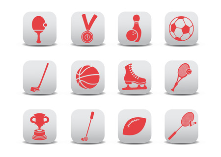 illustration of  icon set or design elements relating to sports Vector
