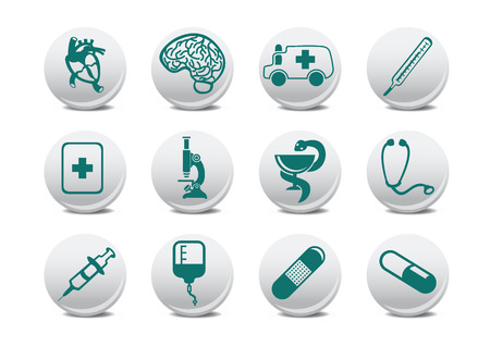 tu puedes: Ilustraci�n de medicina iconos .tiene la puede usar para su sitio Web, la aplicaci�n o la presentaci�n  Vectores