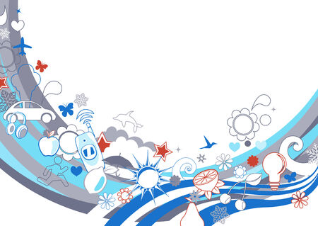 funky background: illustration of  retro funky Background