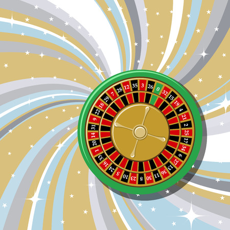 illustration of casino roulette on the beautiful shiny background. Vector