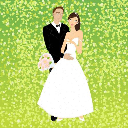 the first love: Ilustraci�n de invitaci�n funky con fresco pareja sexy