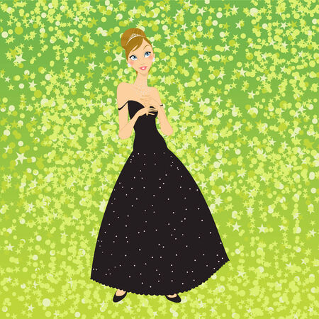 Illustration of beautiful women in the evening dress Stock Vector - 7866877