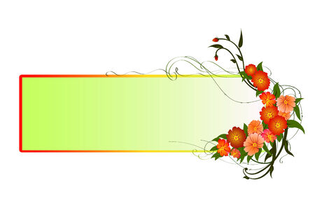 illustraition of funky Abstract floral frame Vector
