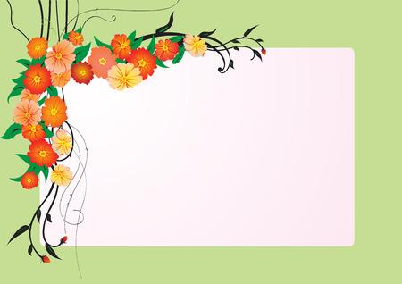 illustraition of elegant Abstract floral frame Vector