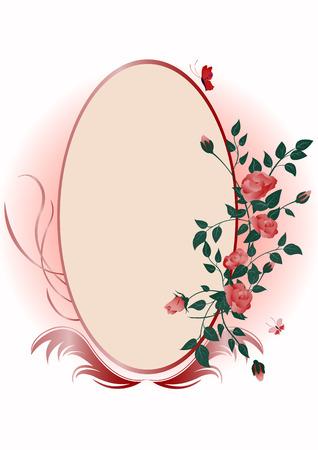 construction frame: illustraition of elegant floral frame Illustration