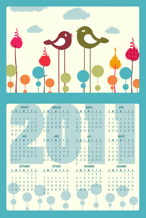 Illustration of colorful style design Calendar for 2011 Stock Vector - 8110786