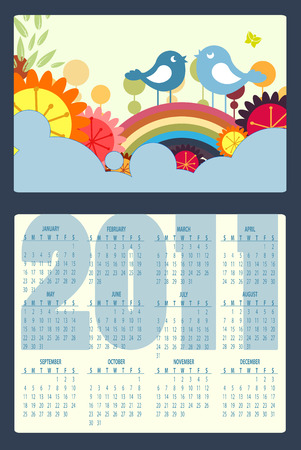 Illustration of colorful style design Calendar for 2011 Vector