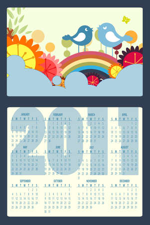 Illustration of colorful style design Calendar for 2011 Stock Illustration - 8366197