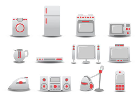 illustration of Household Appliances icons. You can decorate your website, application or presentation with it. Stock Vector - 8613466