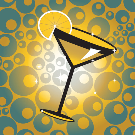 illustration of the cocktail with lemon on the cute background. Stock Vector - 8657550