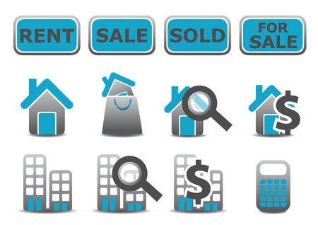 illustration of real estate icons set.You can use it for your website, application or presentation